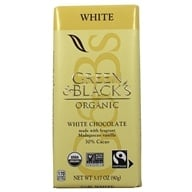 Green & Black's Organic - Chocolate Bar 30% Cacao White Chocolate - 3.5 oz.
