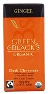 Green & Black's Organic - Chocolate Bar 60% Cacao Ginger Dark Chocolate - 3.5 oz.