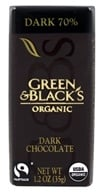 Green & Black's Organic - Impulse Bar Dark Chocolate 70% Cocoa - 1.2 oz.