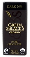 Green & Black's Organic - Chocolate Bar Dark Chocolate 70% Cacao - 1.2 oz.