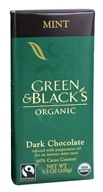 Green & Black's Organic - Chocolate Bar 60% Cacao Mint Dark Chocolate - 3.5 oz.