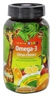 Irwin Naturals - Irwin Kids Omega-3 Citrus Chews Super Citrus - 30 Chew(s) Irwin Kids Bright Brain (710363563615)