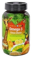 Irwin Naturals - Irwin Kids Omega-3 Citrus Chews Super Citrus - 30 Chew(s) Irwin Kids Bright Brain by Irwin Naturals