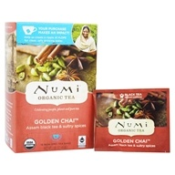Numi Organic - Black Tea Golden Chai - 18 Tea Bags (680692101805)