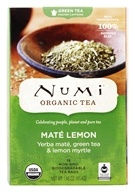 Image of Numi Organic - Green Tea Mate Lemon - 18 Tea Bags Formerly Rainforest