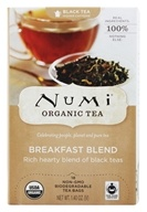 Numi Organic - Breakfast Blend Tea - 18 Tea Bags Formerly Morning Rise (680692102208)