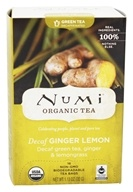 Image of Numi Organic - Green Tea Decaffeinated Ginger Lemon - 16 Tea Bags