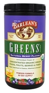 Image of Barlean's - Greens Powder Formula Natural Berry Flavor - 8.78 oz.