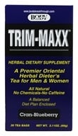 Trim-Maxx Herbal Dieter's Tea for Men and Women Cran-Blueberry - 30 Tea Bags