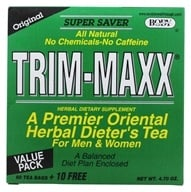 Body Breakthrough - Trim-Maxx Original Herbal Dieter's Tea for Men and Women - 70 Tea Bags (730908589900)