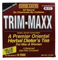 Body Breakthrough - Trim-Maxx Herbal Dieter's Tea For Men and Women Cinnamon Stick - 70 Tea Bags