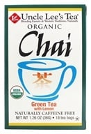 Uncle Lee's Tea - 100% Organic Chai Green Tea Low Caffeine with Lemon - 18 Tea Bags by Uncle Lee's Tea