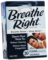 Breathe Right - Nasal Strips Small/Medium Clear - 30 Strip(s), from category: Health Aids