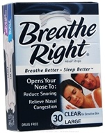 Breathe Right - Nasal Strips Large Clear - 30 Strip(s), from category: Health Aids