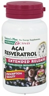 Nature's Plus - Herbal Actives Acai Resveratrol Extended Release - 30 Vegetarian Tablets - $22.69