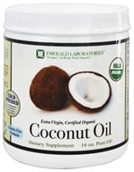 Emerald Labs - Certified Organic Extra Virgin Pure Coconut Oil - 16 oz. by Emerald Labs