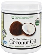 Emerald Labs - Certified Organic Extra Virgin Pure Coconut Oil - 16 oz. - $10.99
