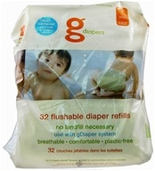 gDiapers - Flushable Diaper Refills Medium/Large 13-36 lb - 32 Pack(s)