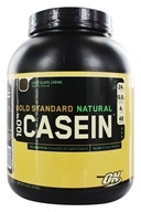 Image of Optimum Nutrition - 100% Casein Gold Standard Natural Protein Chocolate Creme - 4 lbs.