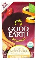 Good Earth Teas - Organic Original Sweet & Spicy Herbal Tea Caffeine Free - 18 Tea Bags