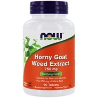 NOW Foods - Horny Goat Weed Extract 750 mg. - 90 Tablets, from category: Herbs