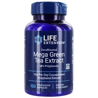 Life Extension - Decaffeinated Mega Green Tea Extract 98% Polyphenols - 100 Vegetarian Capsules (737870954101)