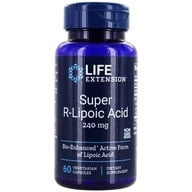 Life Extension - Super R-Lipoic Acid 300 mg. - 60 Vegetarian Capsules (737870120865)