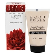 Ecco Bella - FlowerColor Natural Liquid Foundation Ivory Porcelain 15 SPF - 1 oz. LUCKY DEAL, from category: Personal Care