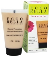 Ecco Bella - FlowerColor Natural Liquid Foundation Light Beige 15 SPF - 1 oz. by Ecco Bella