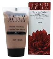 Ecco Bella - FlowerColor Natural Liquid Foundation Linen 15 SPF - 1 oz. (036923000544)
