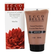 Image of Ecco Bella - FlowerColor Natural Liquid Foundation Mocha 15 SPF - 1 oz. CLEARANCE PRICED
