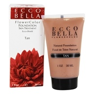 Ecco Bella - FlowerColor Natural Liquid Foundation Tan 15 SPF - 1 oz. by Ecco Bella