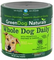 Green Dog Naturals - Whole Dog Daily 30-60 Day Supply Natural Chicken Flavor - 150 Grams