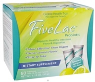 Global Health Trax (GHT) - FiveLac Probiotic Natural Lemon Flavor - 60 Packet(s) by Global Health Trax (GHT)