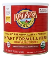 Image of Earth's Best - Organic Infant Formula with DHA & ARA - 23.2 oz.