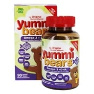 Hero Nutritional Products - Yummi Bears Children's Vitamin DHA - 90 Gummies (613098683798)