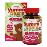 Image of Hero Nutritional Products - Yummi Bears Children's Omega 3 With Chia Seed - 90 Gummies