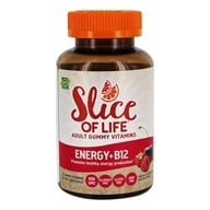 Hero Nutritional Products - Slice of Life Energy+B12 Adult Gummy Vitamins - 60 Gummies, from category: Vitamins & Minerals