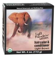 Light Mountain Natural - Hair Color & Conditioner Kit Light Brown - 4 oz. (049347003749)