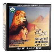 Light Mountain Natural - Hair Color & Conditioner Kit Dark Brown - 4 oz. (049347003756)