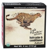 Image of Light Mountain Natural - Hair Color & Conditioner Kit Auburn - 4 oz.