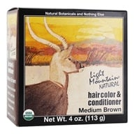 Light Mountain Natural - Hair Color & Conditioner Kit Medium Brown - 4 oz. by Light Mountain Natural