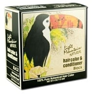 Image of Light Mountain Natural - Hair Color & Conditioner Kit Black - 4 oz.