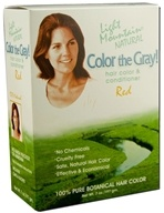 Light Mountain Natural - Color The Gray Hair Color & Conditioner Kit Red - 7 oz., from category: Personal Care