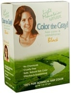 Light Mountain Natural - Color The Gray Hair Color & Conditioner Kit Black - 7 oz. by Light Mountain Natural
