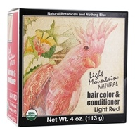 Light Mountain Natural - Hair Color & Conditioner Kit Light Red - 4 oz.