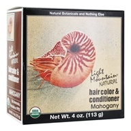 Light Mountain Natural - Hair Color & Conditioner Kit Mahogany - 4 oz. by Light Mountain Natural