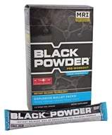 MRI: Medical Research Institute - Black Powder Pre Workout Bullet Pack Blue Raspberry - 20 x 15g Packets (633012640119)