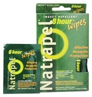 Image of Natrapel - Deet-Free 8-Hour Insect Repellent Wipes - 12 Wipe(s)