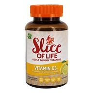 Hero Nutritionals Products - Slice of Life Vitamin D3 Adult Gummy Vitamins 1000 IU - 60 Gummies
